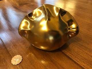 Gold Ceramic Dumpling