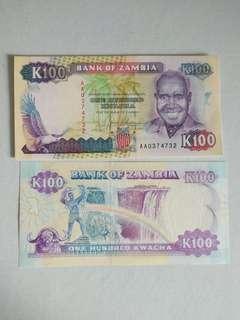 Zambia 100 kwacha 1989-1990s series
