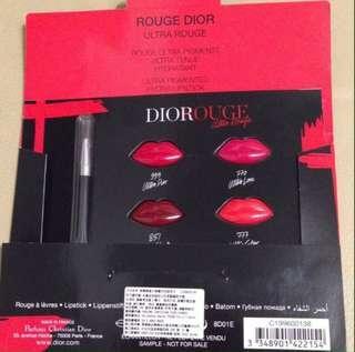 🚚 Dior 迪奧 超惹火唇膏 四色試用卡 #2021.04