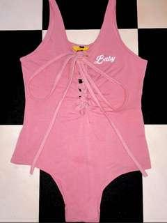 Authentic💯 BNWOT Omighty Baby Bodysuit in pink