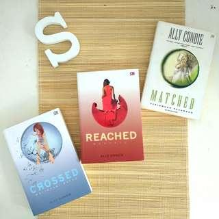 Matched series by Ally Condie (Matched, Crossed, Reached)