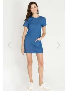 Shopsassydream Elektra Demin Dress Medium Wash size S