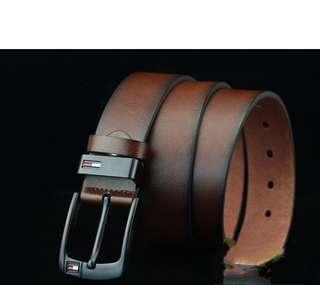 Leather Belt Men Pant Genuine Buckle