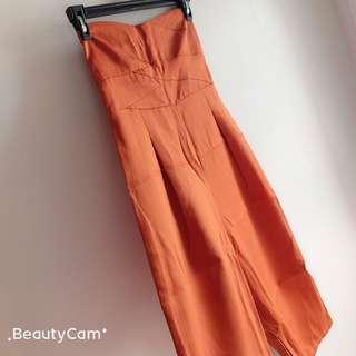 Brand New with Tag Tube Jumpsuit in Rust