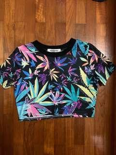Styledasher Colourful weed crop top