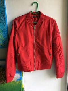 Red Bomber Jacket/ 95% new