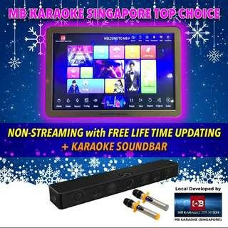 ㊗️MB Full Home Karaoke touchscreen system(Non-streaming online update (Free lifetime update-2 years warranty )