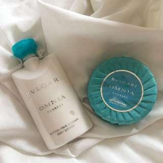 Bulgari Omnia Paraiba Body Lotion & Soap