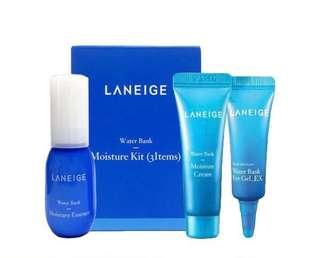 🚚 [Ready Stock] - Laneige Water Bank 3 Piece Moisture Trial Kit