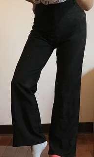 女黑色西裝褲