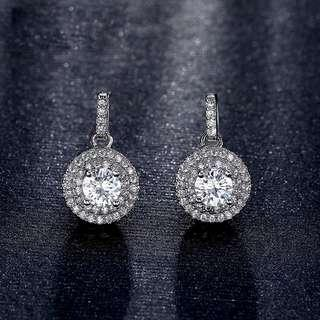 Luxury Zirconia Gold Plated Earrings