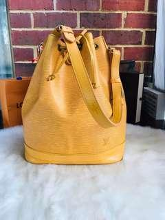 Authentic Vintage Louis Vuitton Epi Noe Yellow