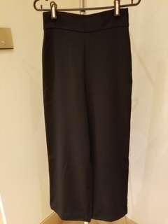 Zara black high waist pants 闊腳褲