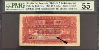 Straits 1927 $1 AU