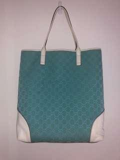 Gucci blue tote bag