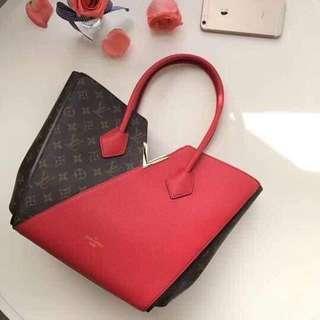 LV Kimono Tote Monogram Canvas Handbag, Cherry