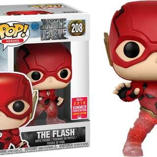 Funko pop 208, Justice League (2017) - The Flash Running Translucent Pop! Vinyl Figure (2018 Summer Convention Exclusive)