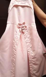Pink Satin Kids Dress