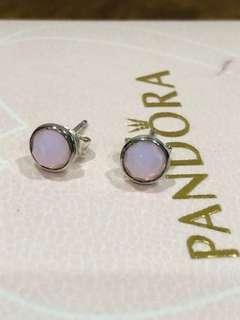 Pandora Pink Opalescent Stud Earrings