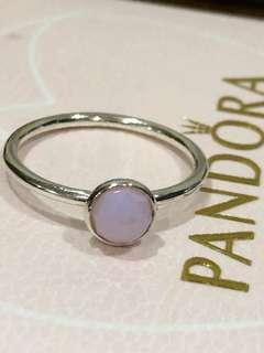 Pandora Size 58 Pink Opalescent Ring