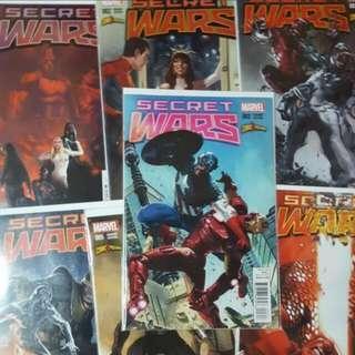 Secret Wars #1-7 Comicxposure Variant Set