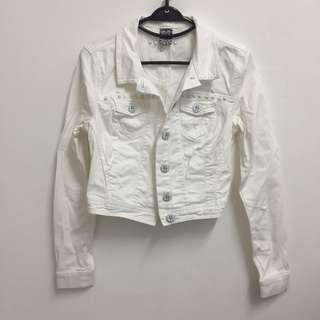 Bershka White Denim Jacket