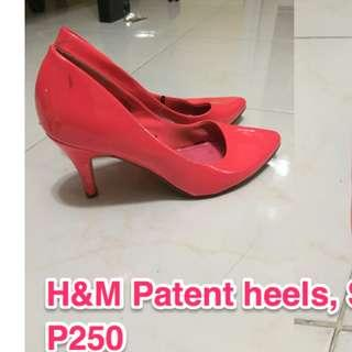 h&m patent leather pink heels