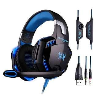 🚚 Gaming Headphone Kotion EACH G2000 Stereo Game Headsets cesque with Microphone LED Light for Computer PC Gamer