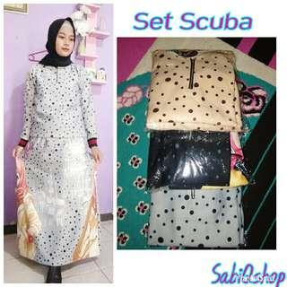 NEW!!SET SCUBA ATASAN ROK