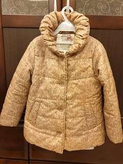 🚚 莫蘭迪粉色小碎花氣質外套(110適穿)