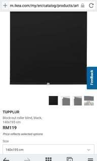 Ikea Tupplur Blind 140cmx195cm Black