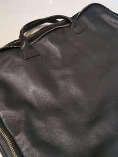 Sleek Albedo black document leather bag