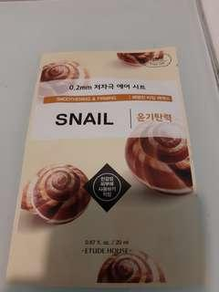 Snail face mask