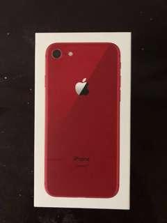 BRAND NEW Apple iPhone 8 (PRODUCT) Red 64gb Limited Edition