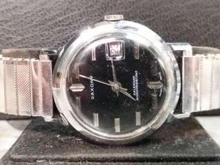 Saxony 男庄机械上鍊日曆手錶35mm (201)