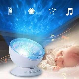 🚚 LED Projecting Light Lamp Color Changing Ocean Wave Projector with Remote Control Kids Night Light