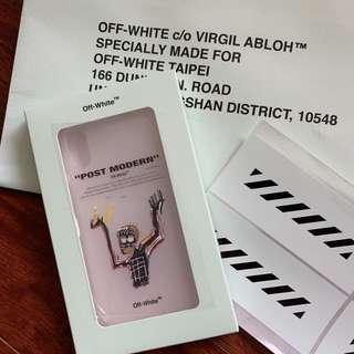 🚚 Off white IPhone X 手機殼 藝術家聯名款