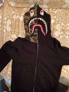 bape shark hoodie not off white supreme undefeated nike