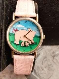 豬年賀歲 金豬石英手錶32mm 215)
