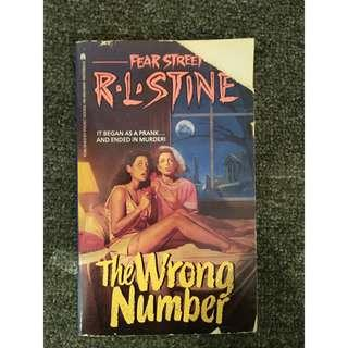 R.L. STINE ( The wrong number )