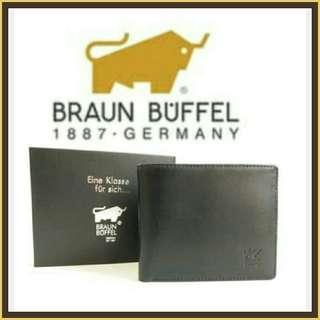 (Stock on 20Apr-3) Braun Buffel authentic men's black leather wallet