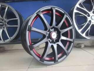 toko velg racing termurah model JD53 R16x7 Semi Matte Black Red