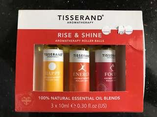 Tisserand Rise and Shine Aromatherapy Oil Roller Ball Set