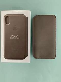 IPhone X Leather Folio (Taupe)