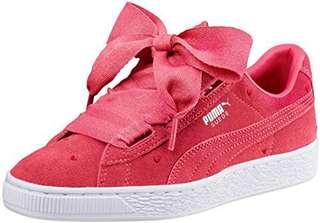 """Brand New Puma Suede Heart """"Pink"""" Kids Baby Shoes"""