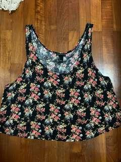 Forever21 floral tank top