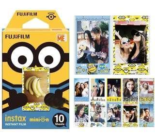 🚚 Brand New Fujifilm Instax Minion Instant Film in 10 sheets pee box