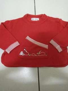 🚚 YSL女童側開岔口袋紅色上衣