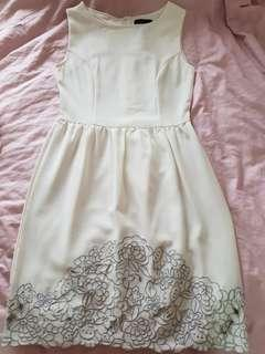 Brand new white embroidered dress
