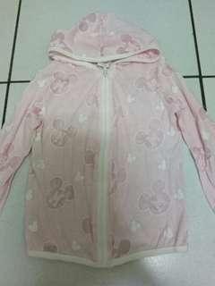 🚚 女童滿版米奇粉色外套